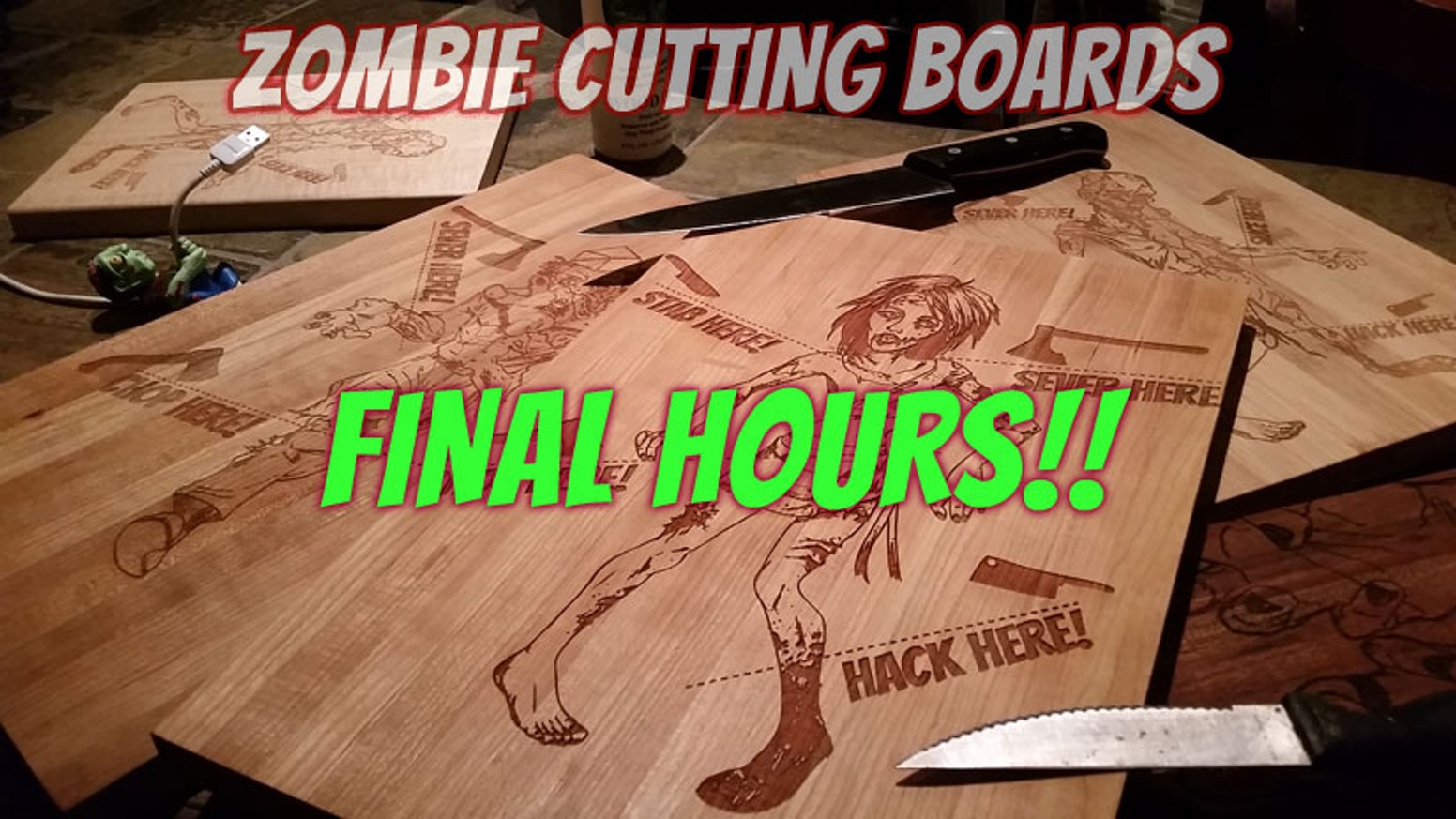 I will make quality cutting boards that showcase your love for braaaaiiiins... and well prepared meals.