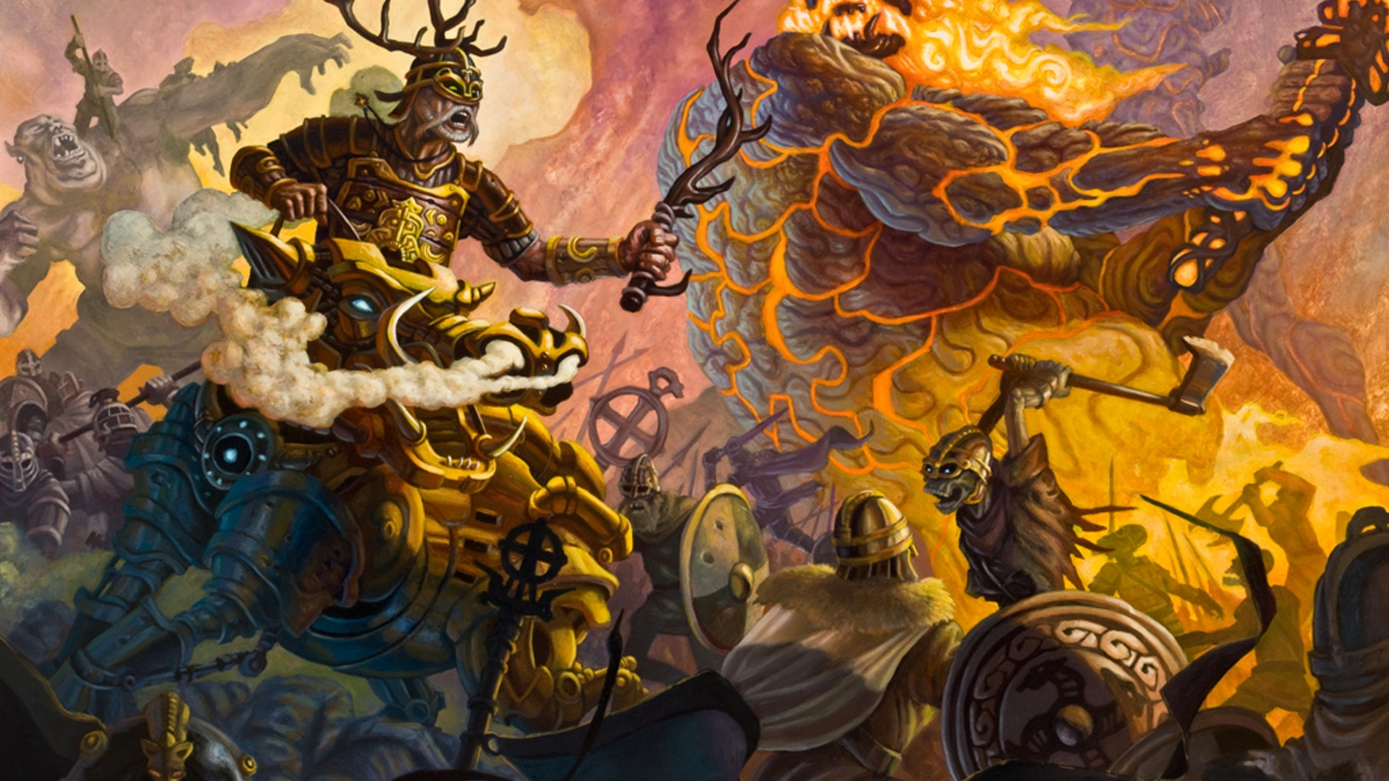 A personal series of NORSE MYTHOLOGY themed oil paintings from artist Sam Flegal with prints for collectors and fans.