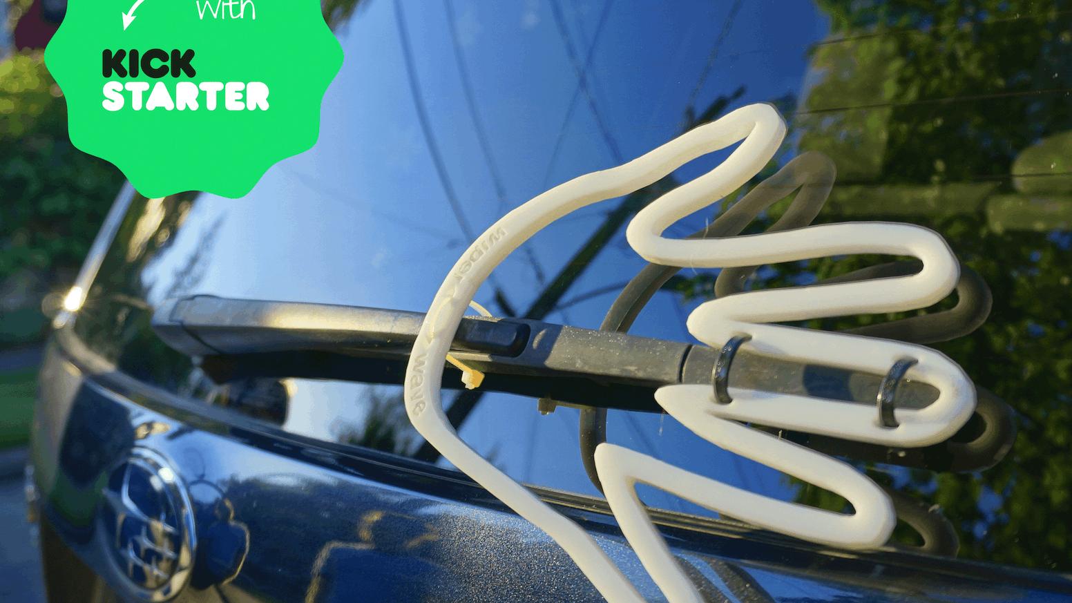 Rear Windshield Wiper >> The Wiper Wave By Tyler Fishbone Kickstarter