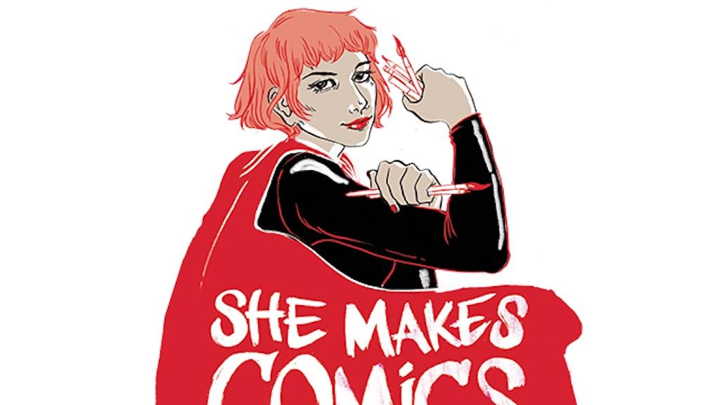 She Makes Comics project video thumbnail
