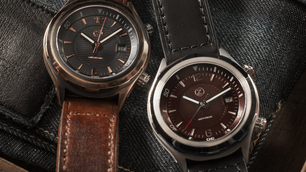 Zelos Helmsman: Bronze and Steel Automatic watches project video thumbnail