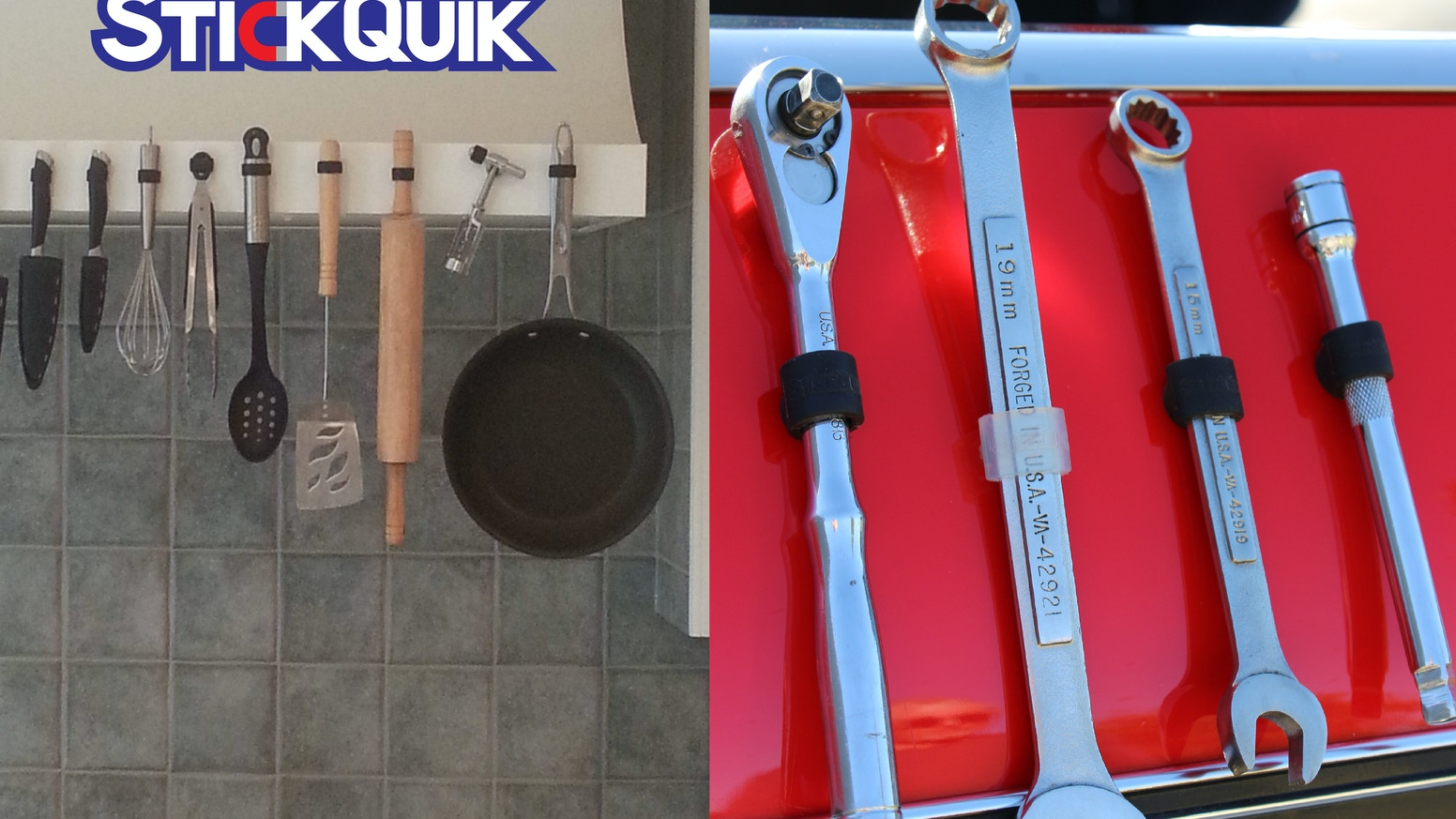 The only accessory of its kind that keeps any tool, implement, or kitchen utensil both organized and within easy reach.