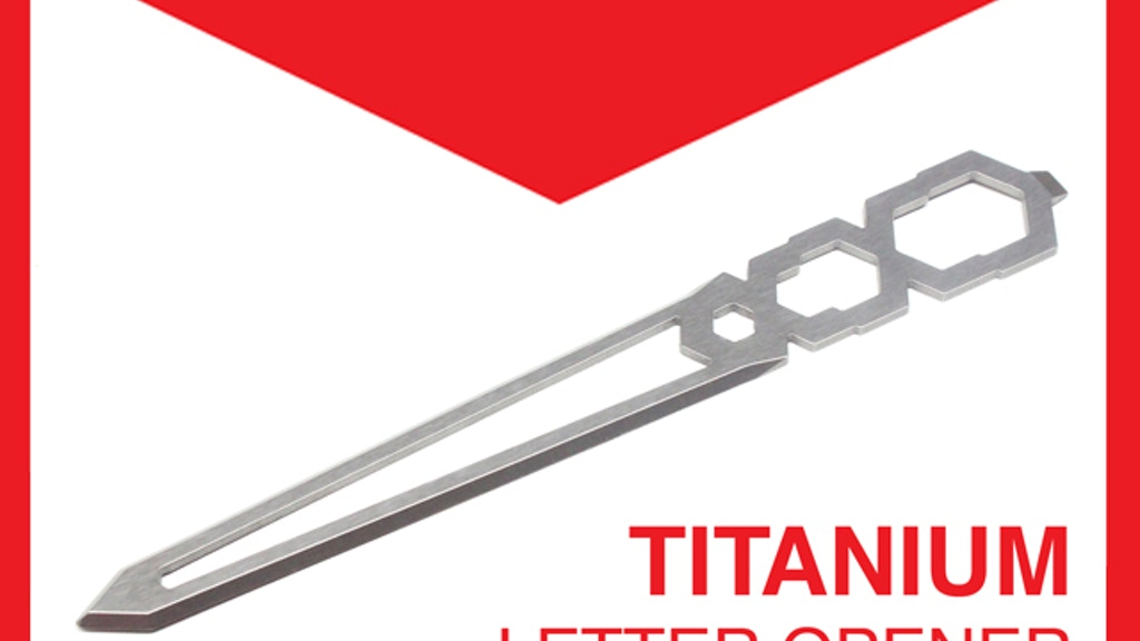 Tiletto - The Titanium Letter Opener! project video thumbnail