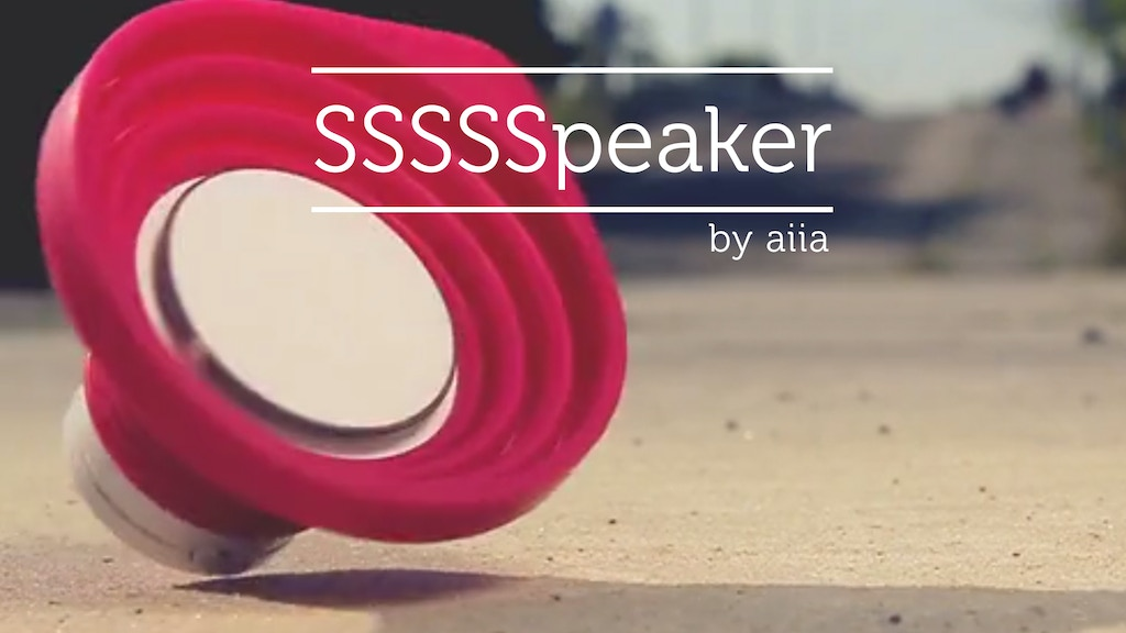 Portable Bluetooth SSSSSpeaker: Sweet Sounds of Silicone project video thumbnail