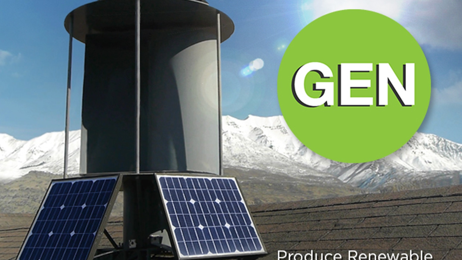 Save 30-70% on your electric bill with the world's first patent pending solar and wind renewable energy generator.