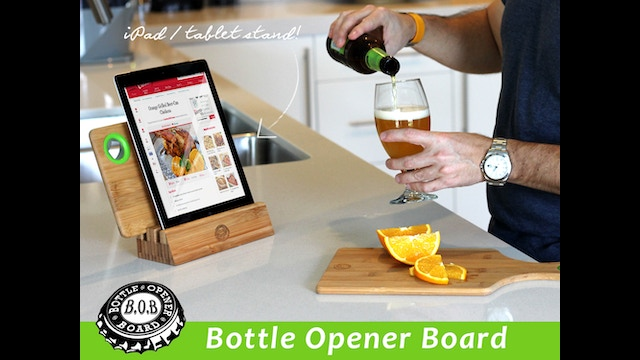 b o b bottle opener board cutting board bottle opener by pablo baquero josh lochner. Black Bedroom Furniture Sets. Home Design Ideas
