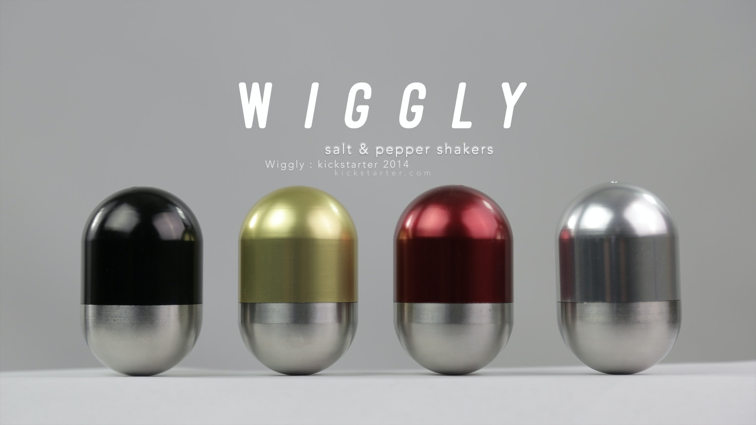 Wiggly Salt and Pepper Shakers