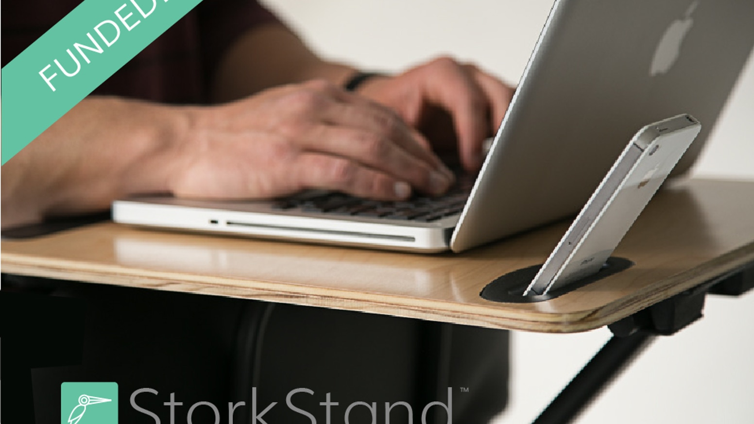 Transform your chair into a healthy standing desk in seconds.  StorkStand is the first portable and affordable standing desk for health-conscious professionals and startup teams.  www.StorkStand.com