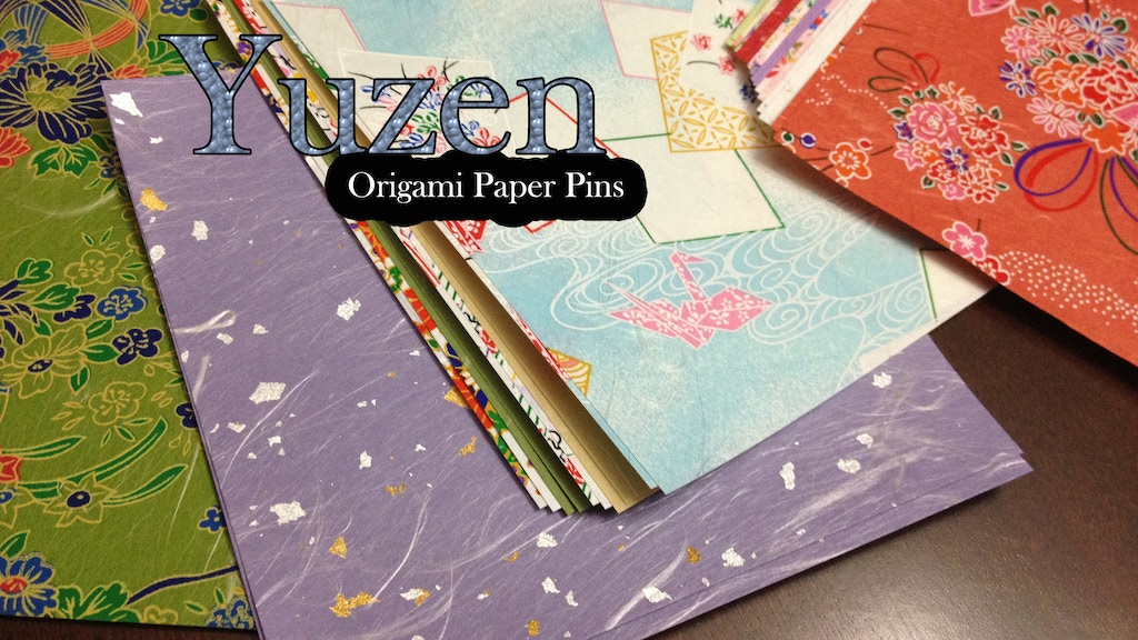 Yuzen - Origami Paper Pins project video thumbnail