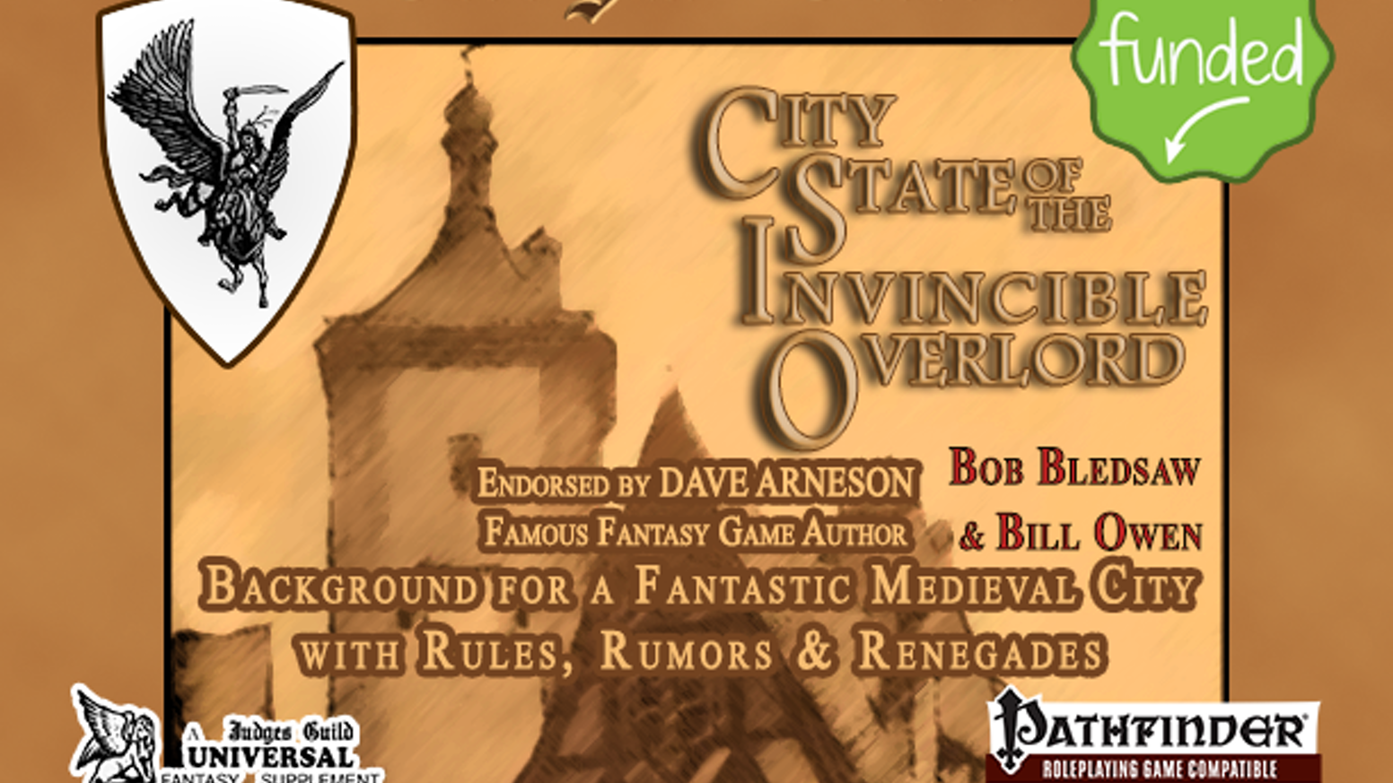Bringing the first published fantasy RPG city setting back to the presses for JG Universal and the Pathfinder Roleplaying Game System.