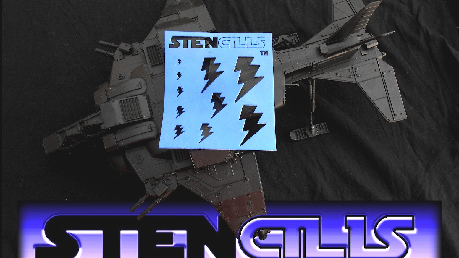 Flexible, Reusable & Robust Detailed Stencils: Spray, Sponge, Paint or Trace awesome scaled icons & patterns on wargames miniatures
