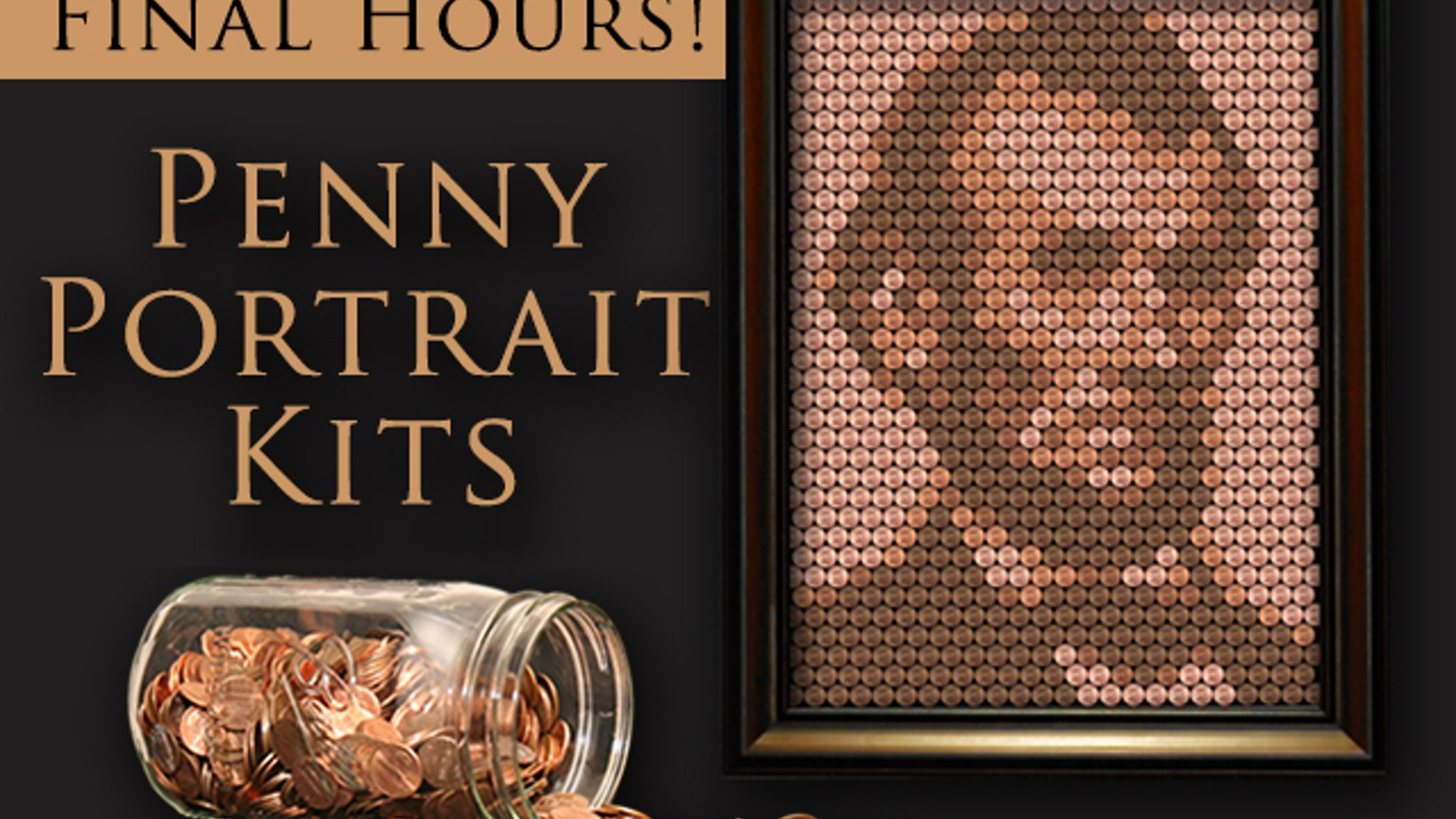 Do you love money? How about America? Now you can have your own portrait of Abe Lincoln made from a bunch of little Lincolns...