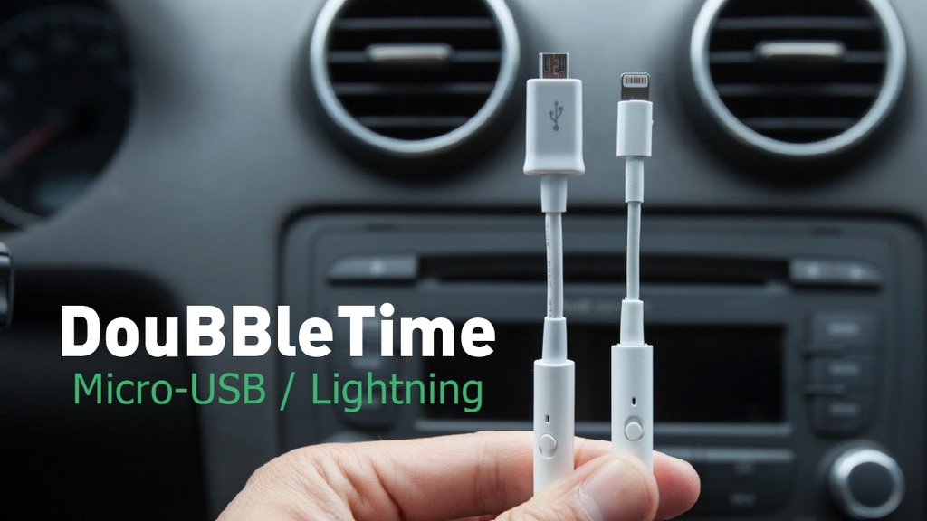 DouBBleTime USB charging cable-Full Battery in 1/2 the Time project video thumbnail