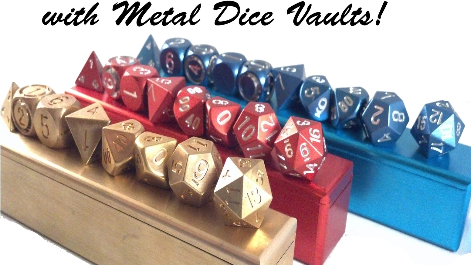 Metal Polyhedral Dice are Precision Machined to Perfection One at a Time! Get Yours in Anodized Aluminum, Brass, Copper, and Stainless Steel!