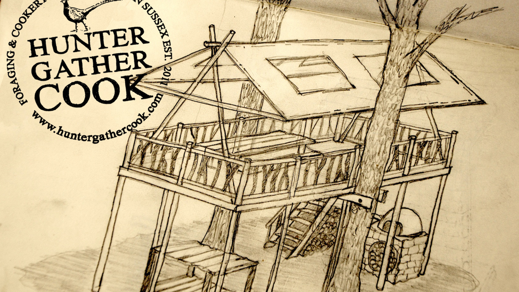 A Tree House HQ for Hunter Gather Cook Foraging School. project video thumbnail