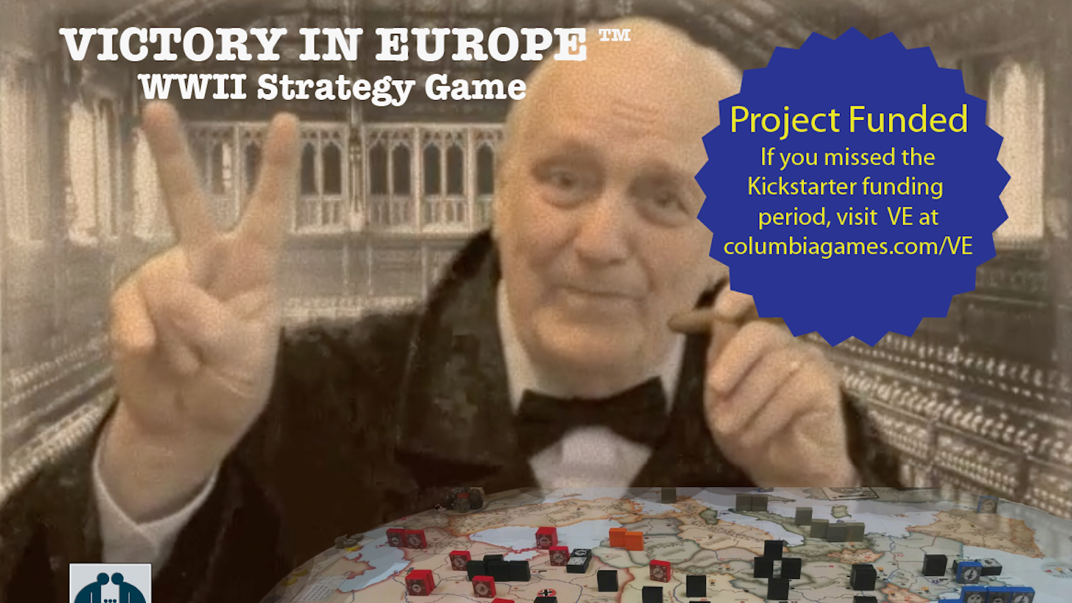 V. E. is a new WW2 block wargame for 2-3 players; plays in 3-5 hrs. on an oval map of Europe. Visit www.columbiagames.com/VE