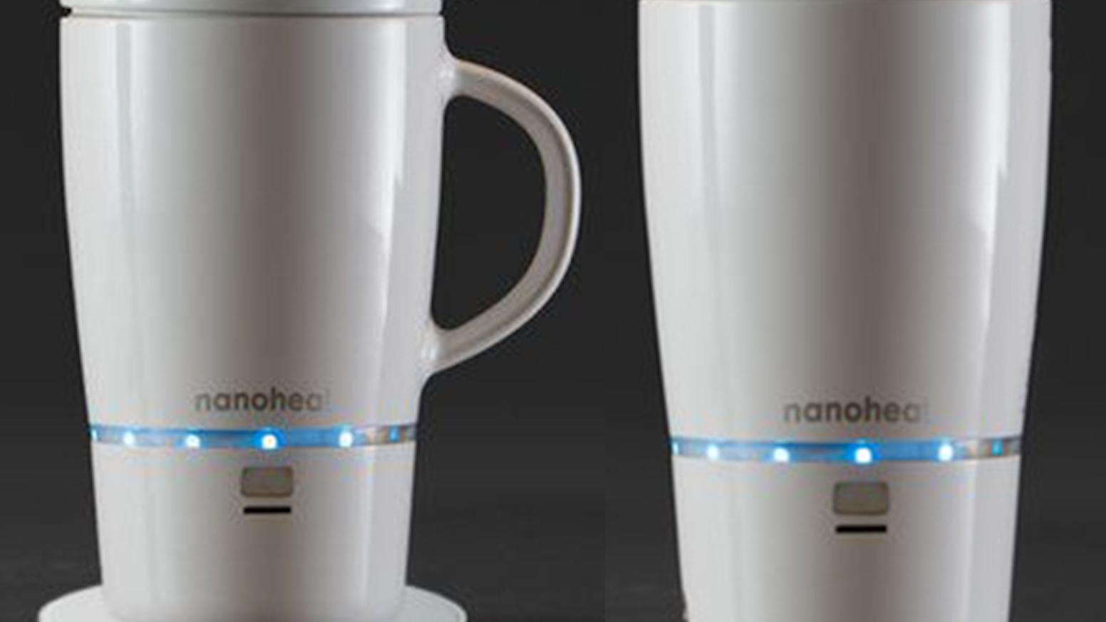 Nano Heated Wireless Mug Cup By Design Hmi Llc And Green