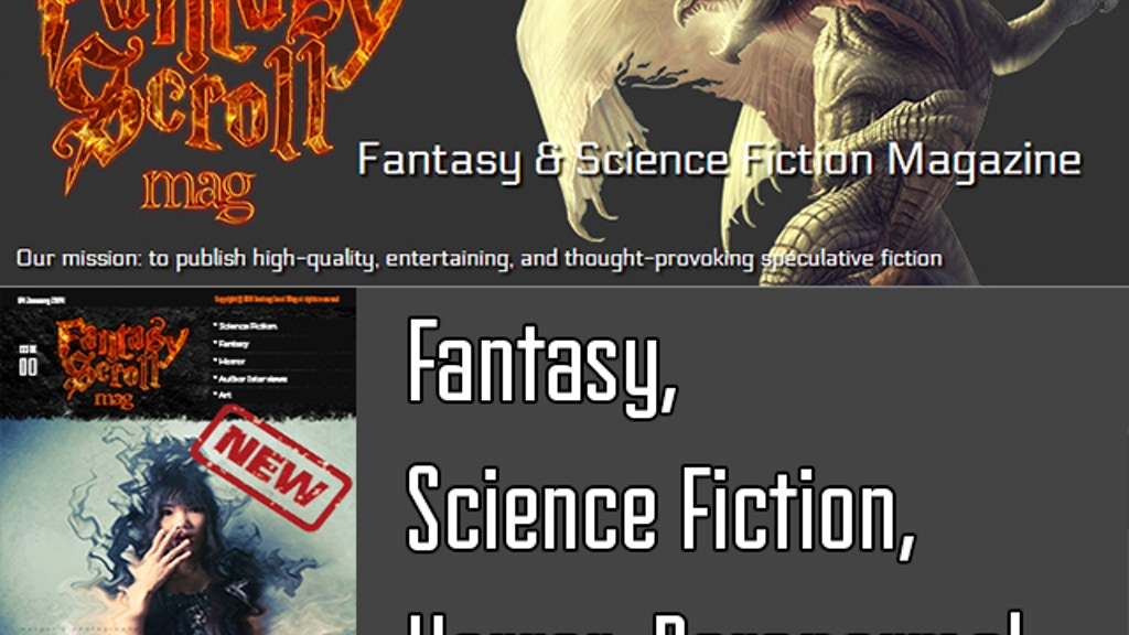 Fantasy Scroll Magazine - Fantasy, Sci/Fi & Horror Stories project video thumbnail