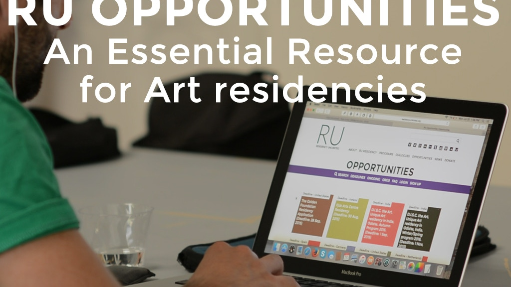 RU Opportunities - An Essential Resource for Art Residencies project video thumbnail