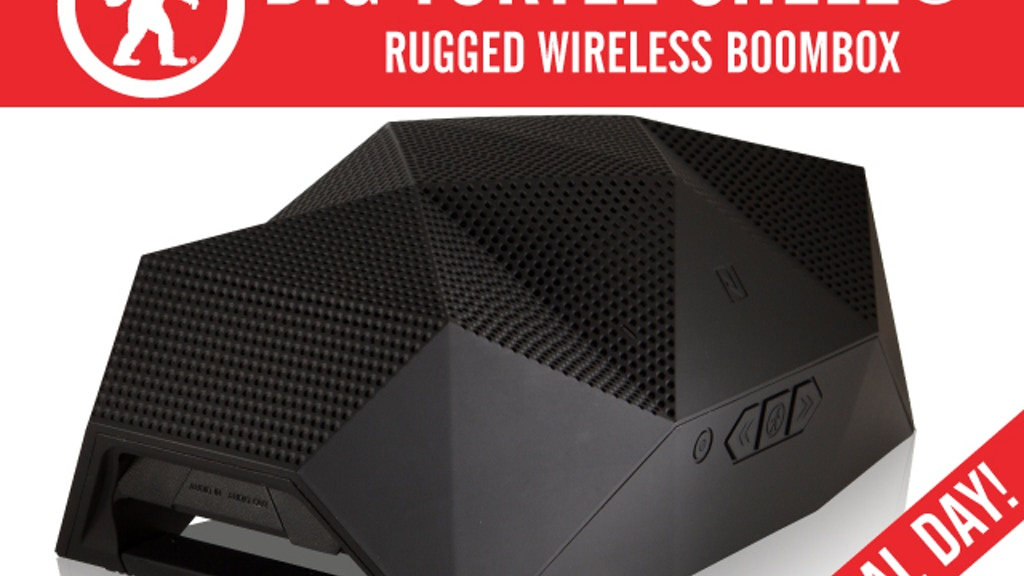The BIG Turtle Shell®: Rugged, Wireless BoomBox & Power Bank project video thumbnail