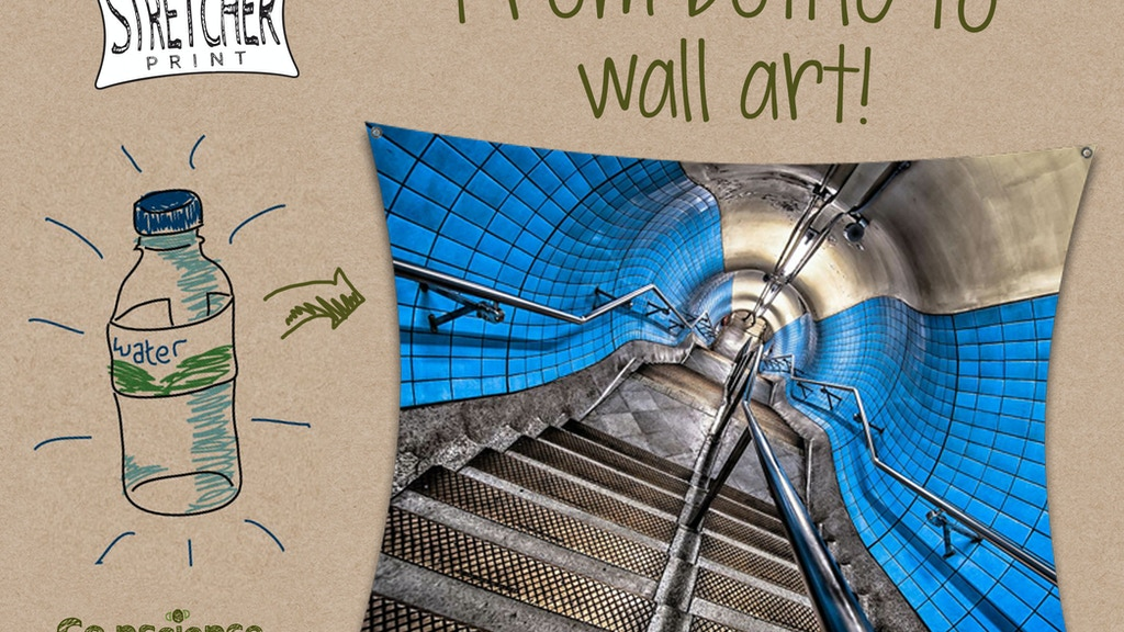 'Stretcher Print' world-first recycled bottle wall art! project video thumbnail
