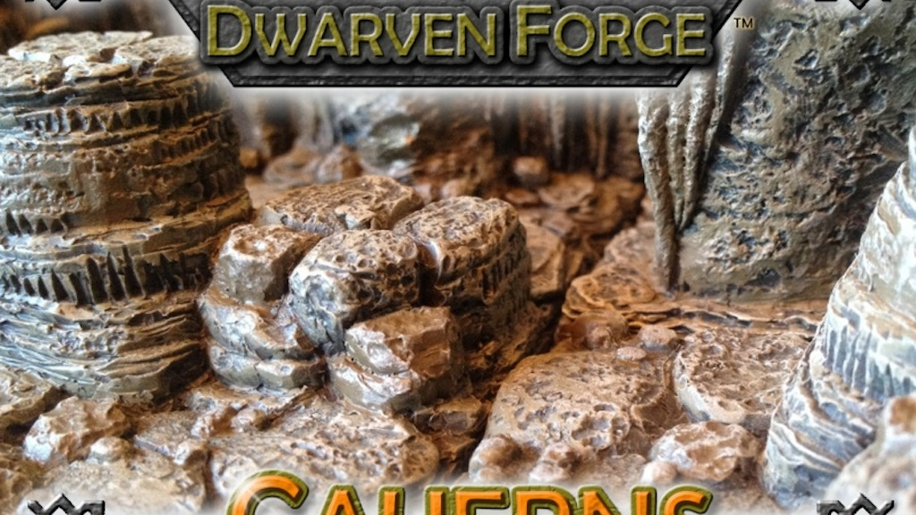 Dwarven Forge's Caverns-Dwarvenite Game Tiles Terrain project video thumbnail