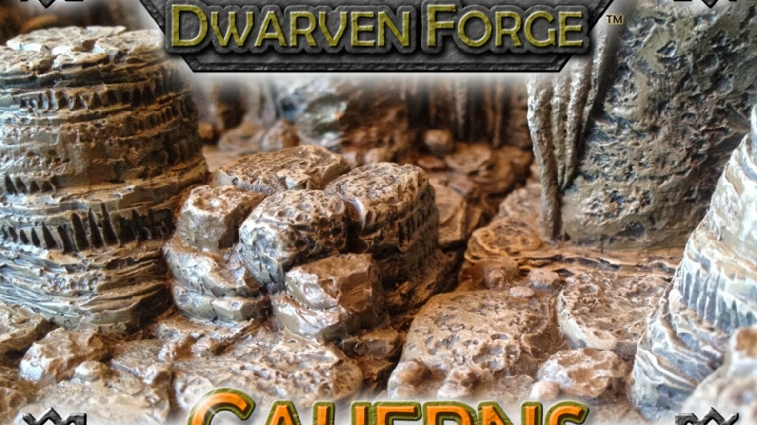 Dwarven Forge presents Caverns – beautifully handcrafted, durable, affordable and completely modular gaming terrain.  Missed the Kickstarter?  Click the button below.