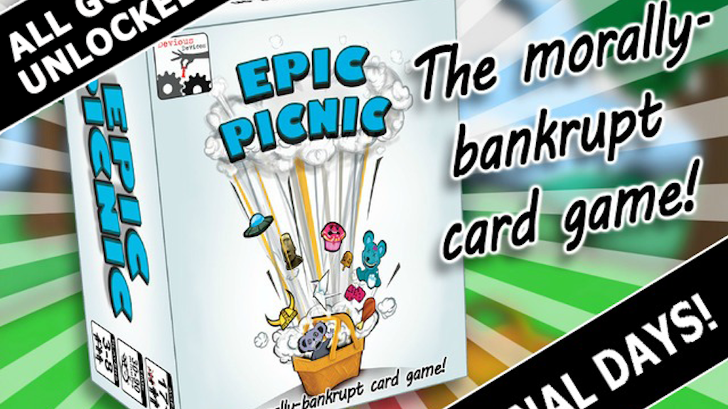 EPIC PICNIC - The morally-bankrupt card game project video thumbnail