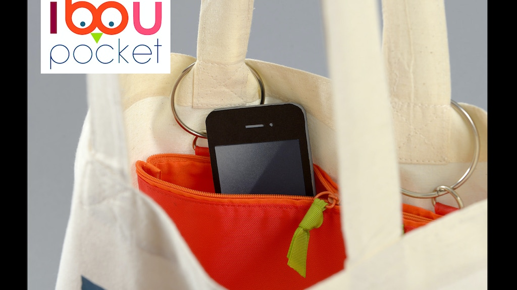 ibou pocket, the handy pouch for your handbag. project video thumbnail