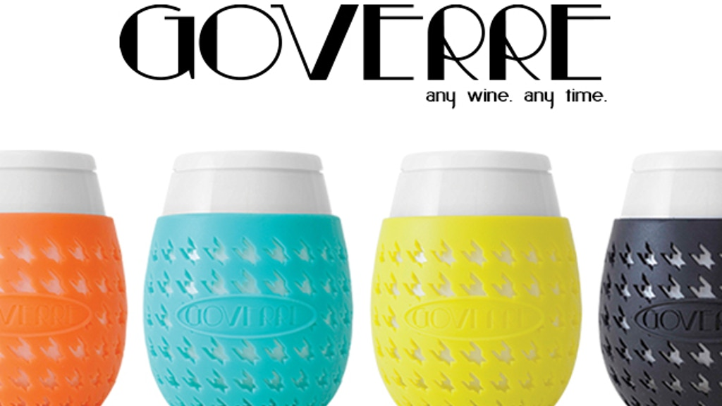 GOVERRE - a GLASS, portable wine glass project video thumbnail