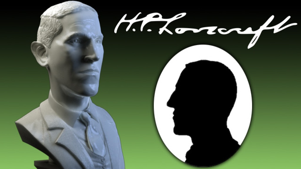 H.P. Lovecraft Miniature Marble Bust Sculpture project video thumbnail