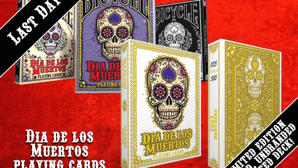 Dia de Los Muertos Bicycle Playing Cards project video thumbnail