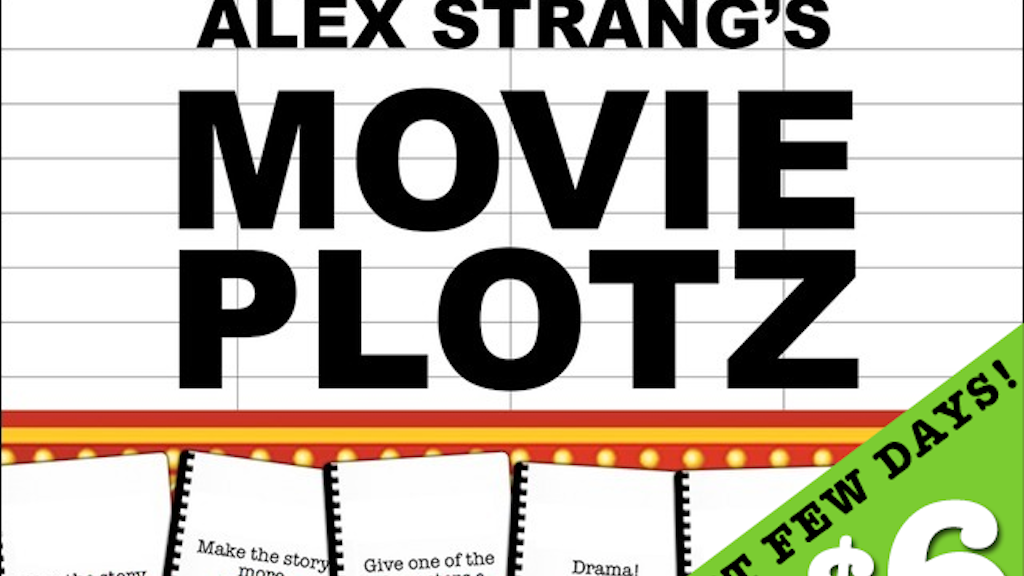 Movie Plotz: A Blockbuster Storytelling Microgame (Just $6!) project video thumbnail