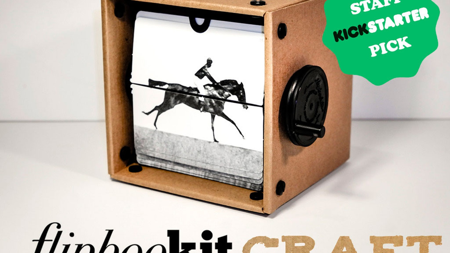 """FlipBooKit is the hand-cranked movie machine that allows anyone to make animated art. Help fund """"CRAFT"""" and lower costs for everyone."""