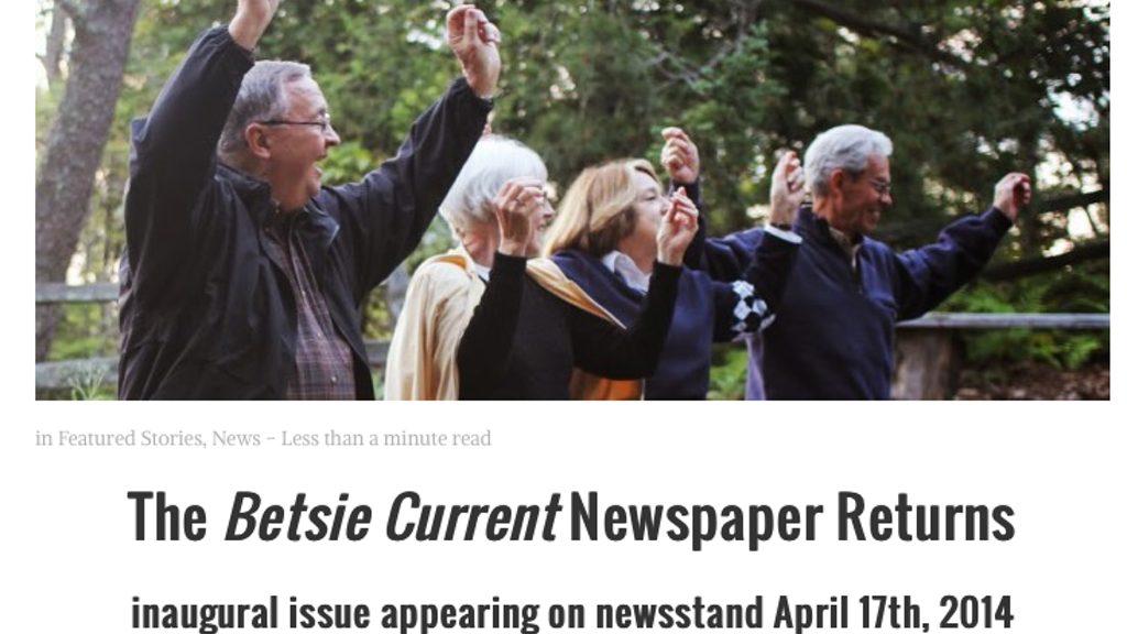 Relaunch of the Betsie Current community newspaper project video thumbnail