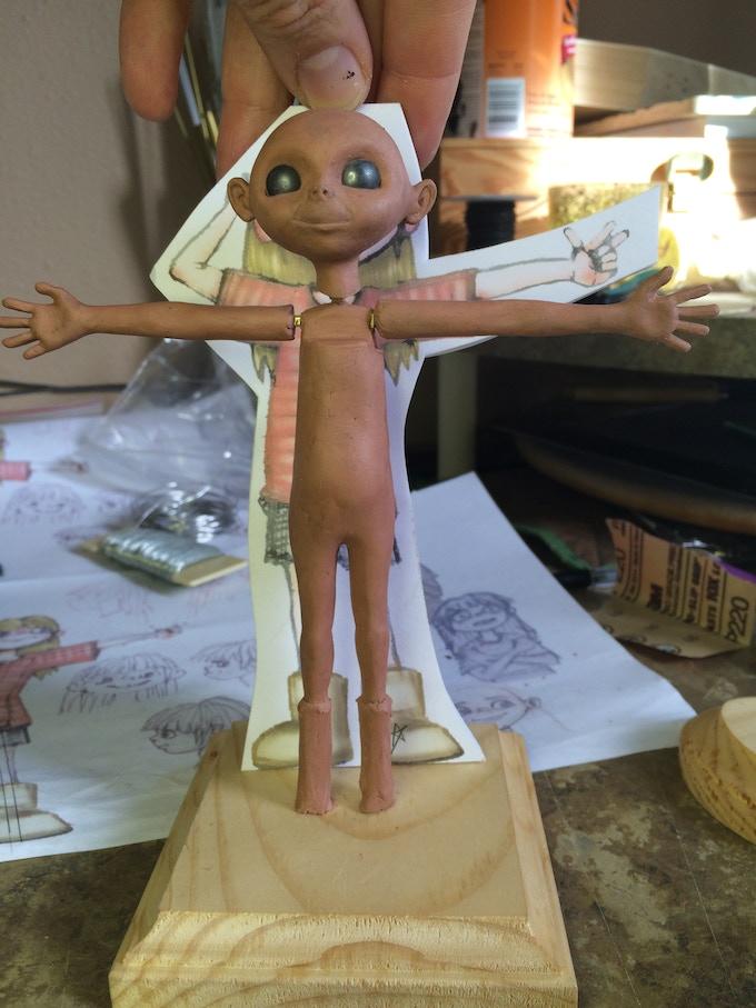 Julie Sculpt In Process