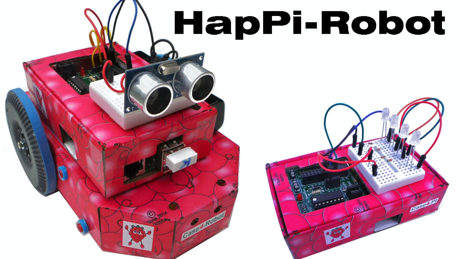 Case4-Kits and HapPi-Robot for the Raspberry Pi by TLBRC and Kre8
