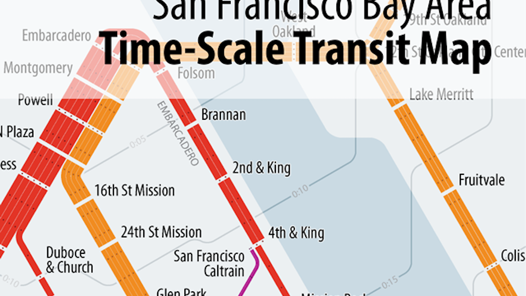 Project image for Time-Scale Map of San Francisco Bay Area Transit