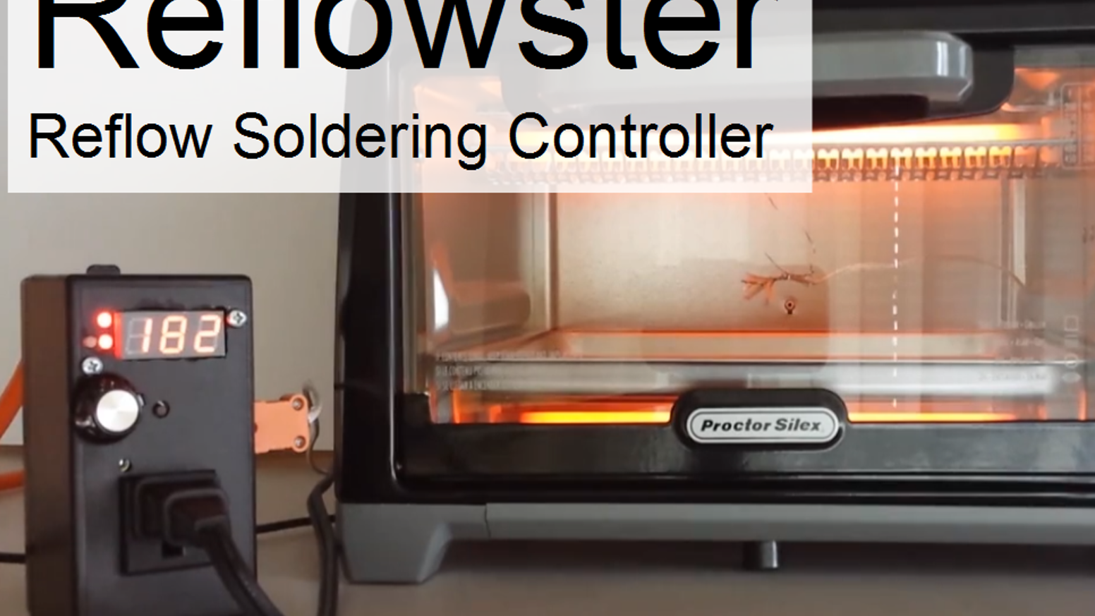 An Arduino-compatible smart outlet designed to instantly turn your toaster oven into a reflow soldering station.