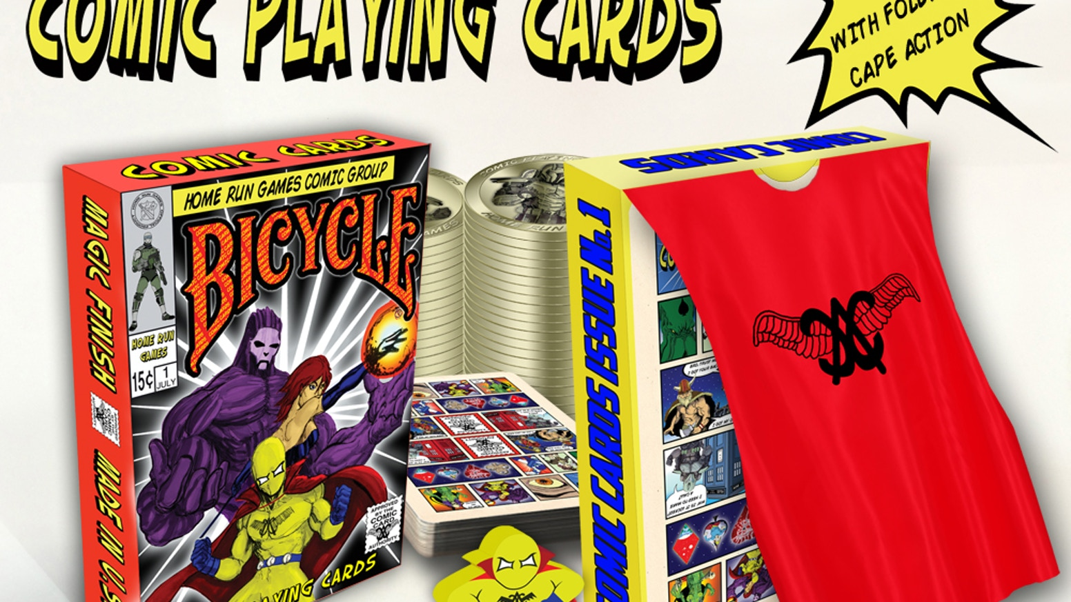 Bicycle Comic Cards! Inspired by Comics, Comic Con, and being a kid.