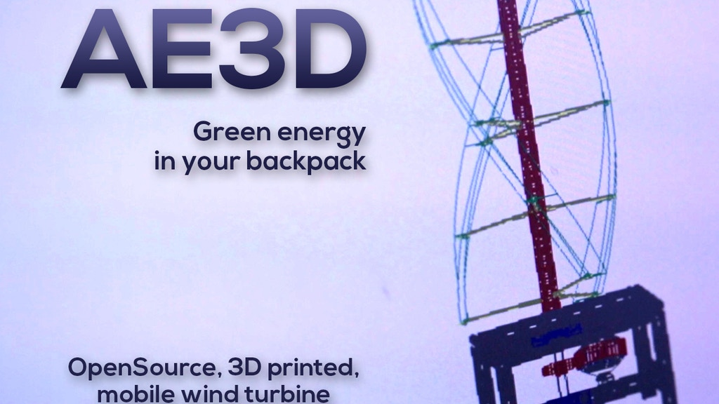 AirEnergy 3D - A 3D printed, opensource, mobile wind turbine project video thumbnail