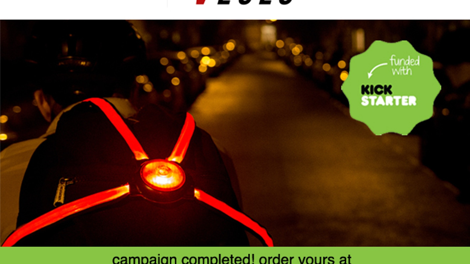 The COMMUTER X4 is a wearable, fibre optic rear bike light that helps drivers judge distance, width and speed of cyclists.