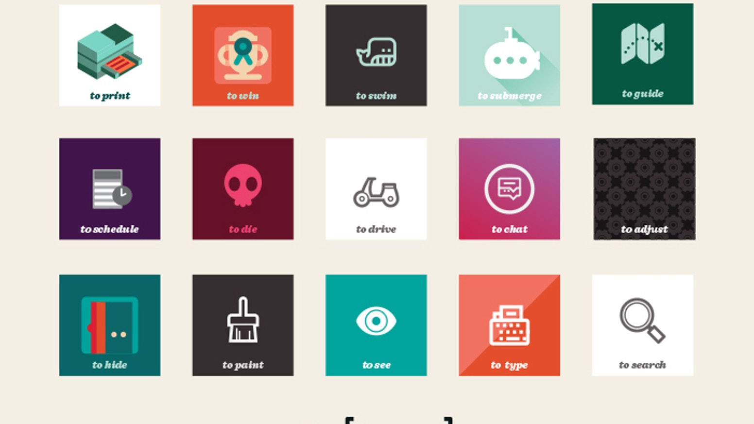 a place for the world's verb icons to live