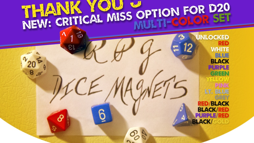 RPG Dice Magnets project video thumbnail