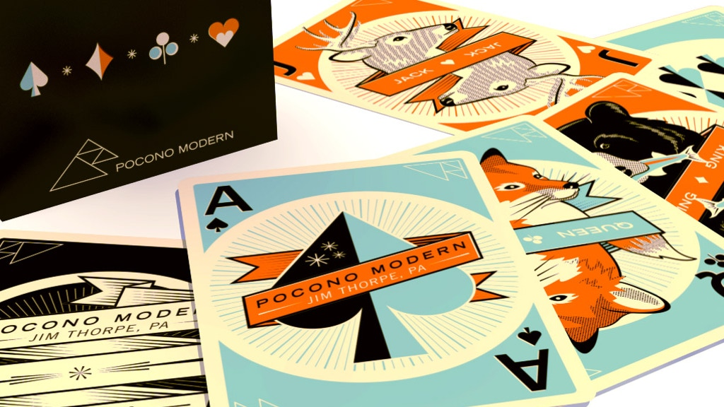 Pocono Modern Playing Cards - A Mid Century inspired deck project video thumbnail