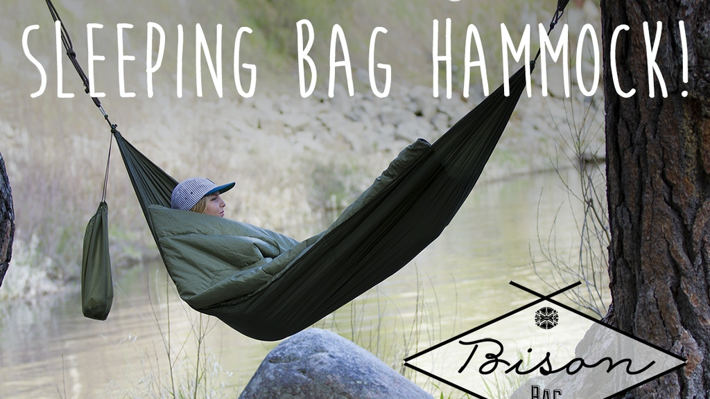 The World's First Sleeping Bag Hammock || Bison Bag project video thumbnail