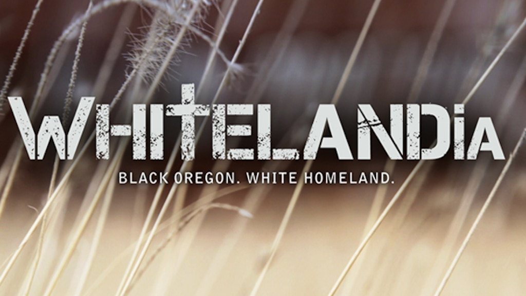 WHITELANDIA:  Black Oregon. White Homeland. project video thumbnail