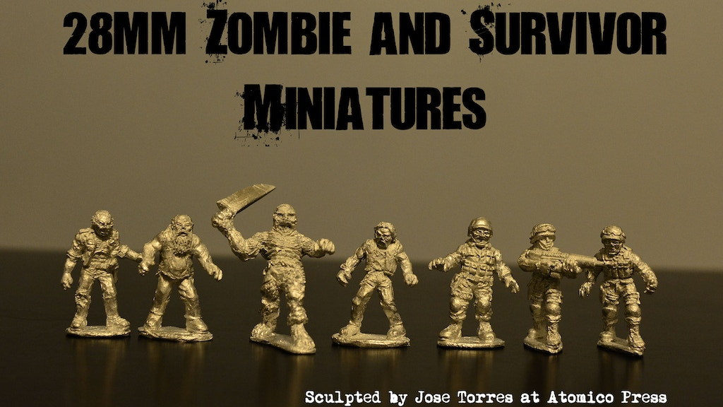 28mm Zombie and Survivor miniatures project video thumbnail