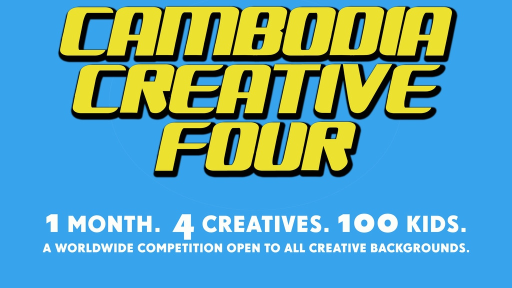 CAMBODIA CREATIVE 4 - Are you creative? Cambodia is calling! project video thumbnail