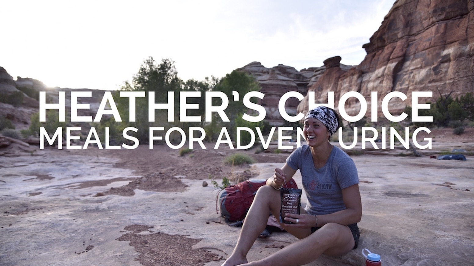 Packable meals + snacks for all your backcountry trips. Gluten-free. Just add water. Share your adventure with #heatherschoice